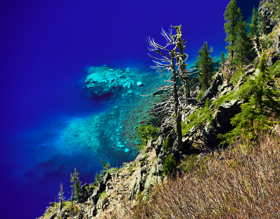 Wacky Crater Lake Color
